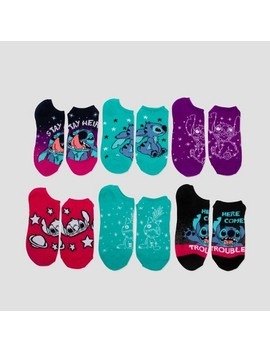 Women's 6pk Disney Lilo And Stitch Low Cut Socks   Colors May Vary One Size by Colors May Vary One Size