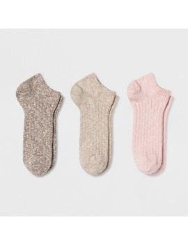 Women's 3pk Slub No Show Socks   Universal Thread One Size by Universal Thread One Size