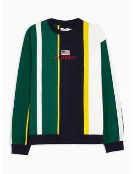 Green Usa Stripe Sweatshirt by Topman
