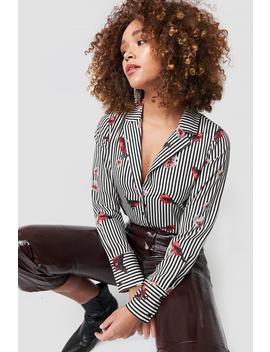 Flower Stripe Shirt Flerfarvet by Rutcircle