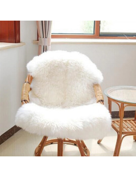 Funique Fur Artificial Sheepskin Hairy Carpet Living Room Bedroom Rugs Skin Fur Plain Fluffy Area Rugs Washable Bedroom Faux Mat by Ali Express.Com