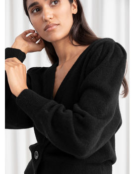 Puff Sleeve Cropped Cardigan by & Other Stories