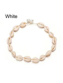 Women Necklace Boho Sea Shell Necklaces Girls Rope Chain Choker Bracelet Elegant by Unbranded