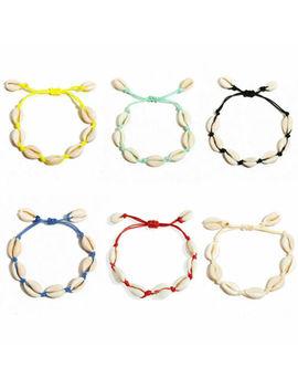 Sea Shell Bracelet Women Girls Jewelry Summer Beach Adjustable Ankle Bracelet Au by Unbranded