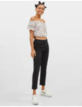 Cropped Slim Jeans by Bershka