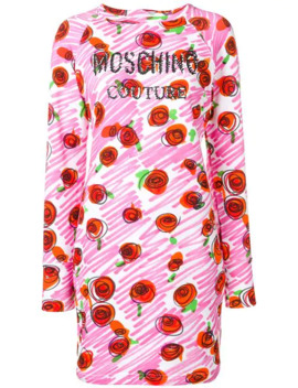 Rose Logo Fitted Dress by Moschino