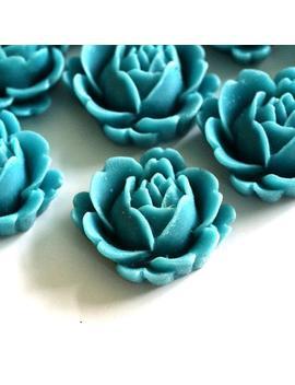 Sale 20pcs Blue Flower Cabochons 20mm by Etsy