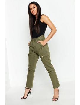 Utility Cargo Pocket Rigid Straight Leg Jeans by Boohoo