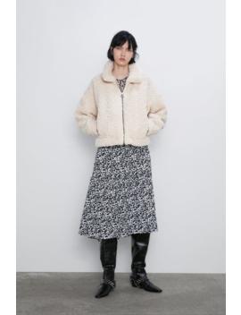 Veste Courte Effet Mouton Jeans Denim Femme Cornershops by Zara