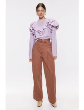 Dzianinowy Sweter Z Falbankami Zobacz Więcej Swetry Kobieta by Zara