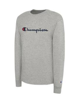 Champion Script Long Sleeve  Oxford Gray by Champion