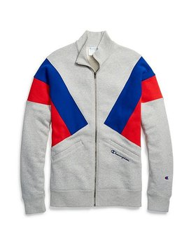 Champion Reverse Weave Colorblock Track Jacket  Oxford Grey/Blue by Champion