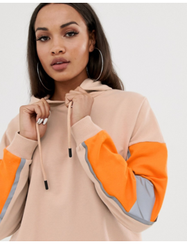 Asos Design Hoodie Sweat Dress With Reflective Panelling by Asos Design