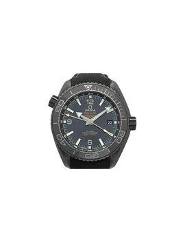 Black Ceramic Seamaster Planet Ocean Men's Wristwatch 45.5mm by Omega