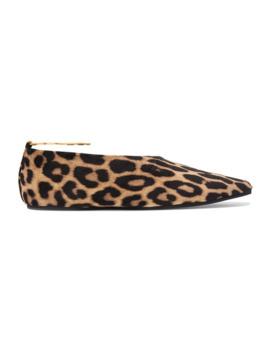 Flache Schuhe Mit Spitzer Kappe Aus Velourslederimitat Mit Leopardenprint Und Verzierung by Stella Mc Cartney