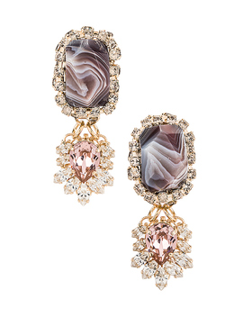 Agate Strass 드랍 귀걸이 by Anton Heunis