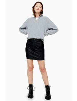Coated Joni Mini Skirt by Topshop