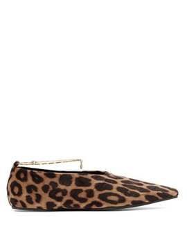 Leopard Print Velvet Ballet Flats by Stella Mc Cartney