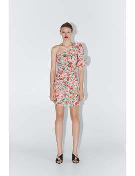 Floral Print Asymmetric Dress  Dresseswoman by Zara