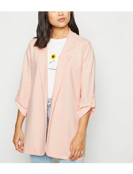 Petite Pale Pink Longline Blazer by New Look