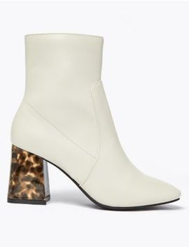 Flared Block Heel Ankle Boots by Marks & Spencer