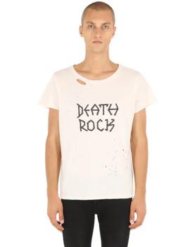 Death Rock Ripped Jersey T Shirt by GarÇons Infideles