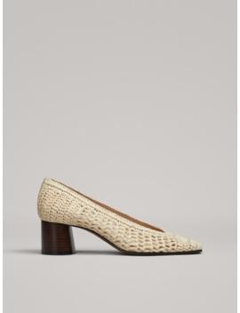 Raffia High Heel Shoes by Massimo Dutti