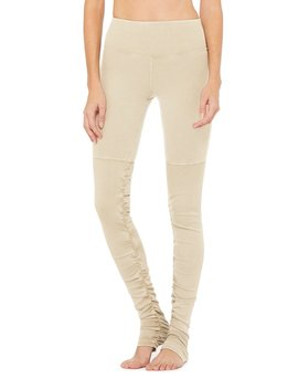 High Waist Alo Sueded Goddess Legging by Aloyoga