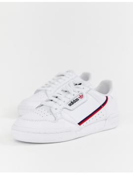 Adidas Originals – Continental 80 – Sneaker In Weiß Und Rot by Asos