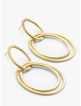 People Tree Linked Hoop Earrings, Brass by People Tree