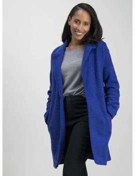 Cobalt Blue Bouclé Coat   12 by Argos