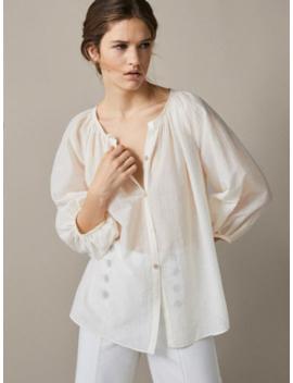 Koszula Z BaweŁny Ze StrukturĄ by Massimo Dutti