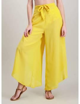 Saffron Yellow Floaty Beach Trousers   12 by Argos