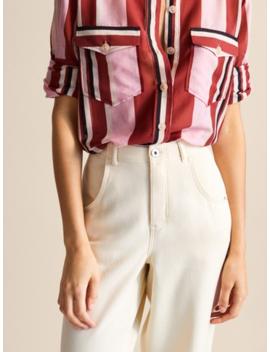 LejĄce SiĘ Spodnie Z Diagonalu Z WywiniĘciem by Massimo Dutti