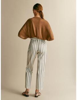 Spodnie W Paski Slim Fit by Massimo Dutti
