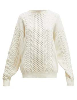 Canber Cable Knitted Wool Sweater by Ann Demeulemeester
