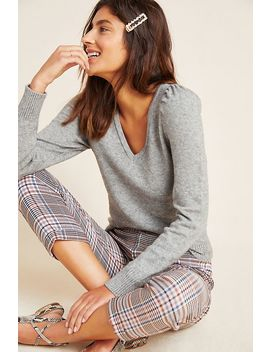 Cherie Puff Sleeved Pullover by Anthropologie