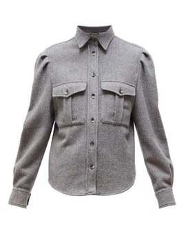 Florrie Wool Blend Felt Shirt by Isabel Marant