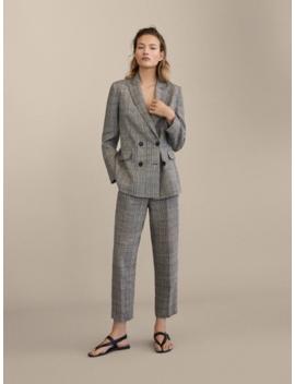Spodnie W KratkĘ Ze 100% Lnu O Kroju Slim Fit by Massimo Dutti
