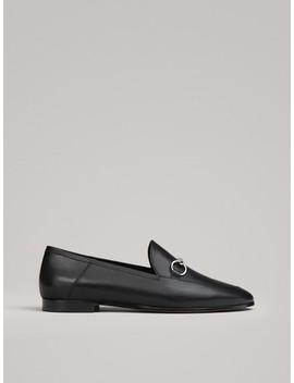 Czarne Mokasyny Z KlamrĄ by Massimo Dutti