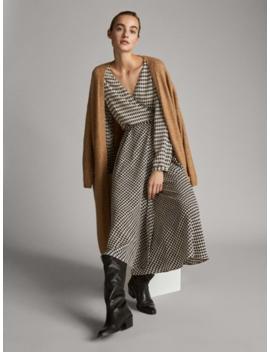 Sukienka W PepitkĘ by Massimo Dutti