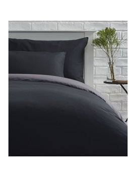 Wilko Reversible Black And Charcoal King Size Duvet Set Wilko Reversible Black And Charcoal King Size Duvet Set by Wilko