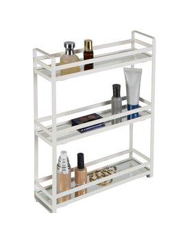 Pizano 3 Tier Slim Flat Wired Rails Vanity Tray by Ebern Designs