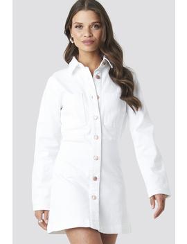 Denim Shirt Mini Dress Weiß by Na Kd Trend