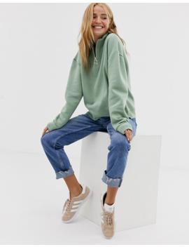 Pull&Bear – Grön Sweatshirt Med Dragkedja Framtill by Pull&Bear