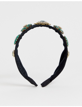 Ashiana Emerald Jewel Headband by Asos