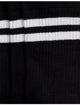 French Connection Sports Stripe 3 Pack Socks In Black by French Connection