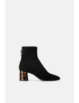 Stretch Heeled Ankle Boots With Ring Detail View All Shoes Woman by Zara