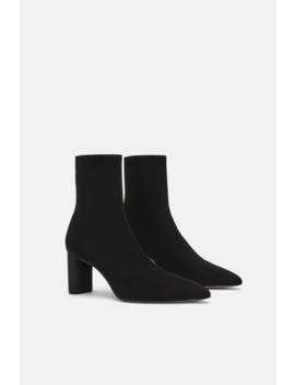 Fabric High Heel Ankle Boots View All Shoes Woman by Zara