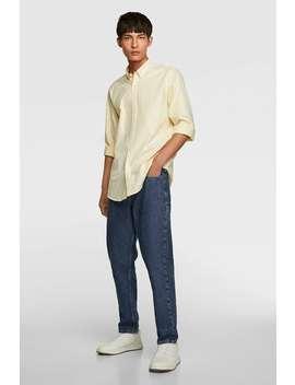 Gestreept Oxford Overhemd Alles Bekijken Overhemden Heren by Zara